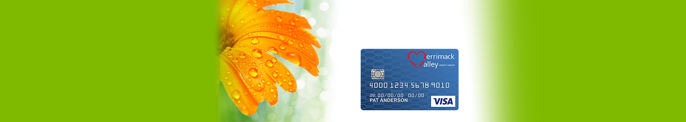 Spring Tiger Lily with MVCU Visa Platinum credit card and green edges