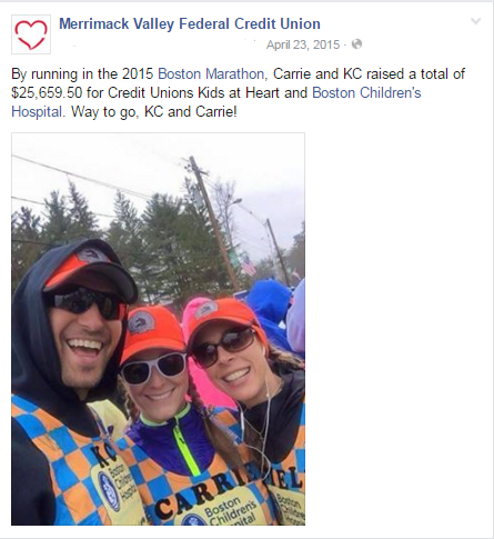 2015 Boston Marathon fundraiser