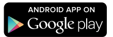 "Black button with arrow icon that says ""Android App on Google Play"""