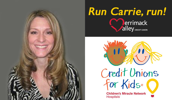Merrimack Valley Credit Union cheers on Carrie Fitzgerald!