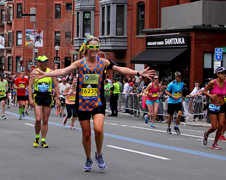 MVCU's Carrie Fitzgerald running in the 2017 Boston Marathon